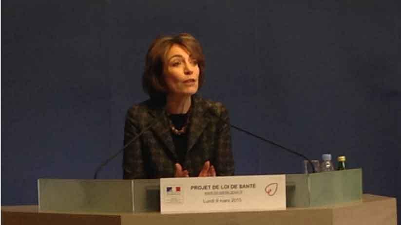 La ministre de la Santé Marisol Touraine lors de la présentation à la presse le 9 mars 2015 du projet de loi Santé