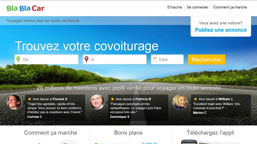 Covoiturage : Bla Bla Car propose une assurance additionnelle gratuite